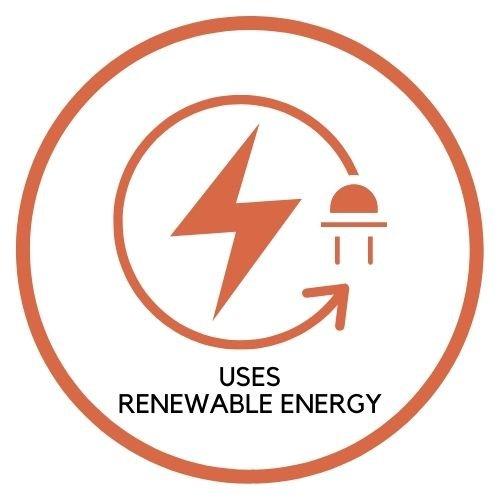Uses Renewable Energy