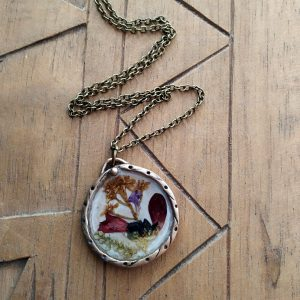 Mixed Pressed Flower Pendant