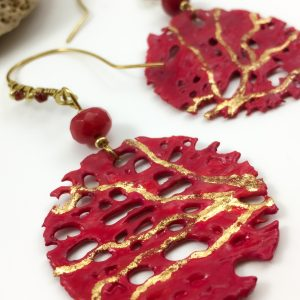 'Bougainvillea Dreams' round cactus earrings