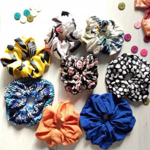Large handmade scrunchie set