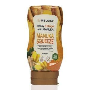 Manuka Honey Squeeze Bottle 40+MGO Ginger 400g