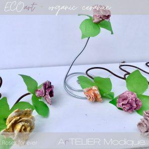 ceramic roses