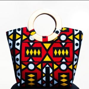 Tanzania Wooden Handle Bag with Purse